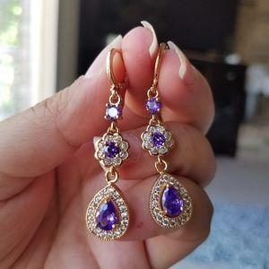 Swarovski Elements Rose Gold Earrings NEW